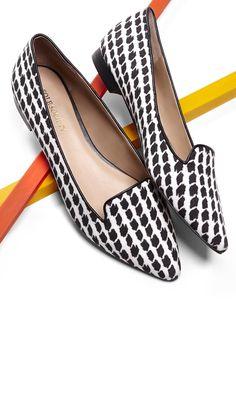 black & white pattern flats