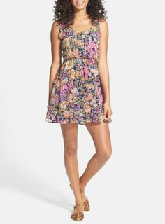 Pretty little floral chiffon dress :)