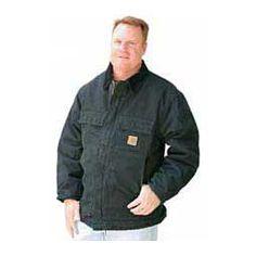 Sandstone Traditional Arctic Quilt-Lined Mens Coat (C26) Black - Item # 24795