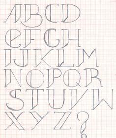 Projeto tipográfico em andamento