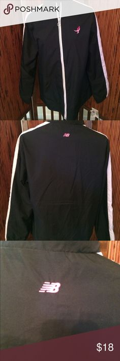 New Balance Women's Jacket NWT Size Large New Balance Women's Susan G. Komen Breast Cancer Awareness Jacket Size Large NWT.  Black with pink lining and pink accents on the sleeves.  Very nice jacket and cause!  Comes from smoke-free and pet-free home!  Questions and offers welcomed! Thanks for looking 😊 New Balance Jackets & Coats