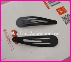 """Find More Hair Accessories Information about 20PCS 8.0cm 3.15"""" Black Round Head Tear Drop Plain Metal Snap Clip no hole,Women hairclips pins,hair jewelry,High Quality metal snap clip,China snap clips Suppliers, Cheap black hair pins from Accessories for Luxury Hair Jewelry--Susan' store on Aliexpress.com"""