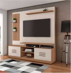 steady with the new style livingroom decor combined decor tv wall to impress a warm personality Tv Stand Modern Design, Modern Tv Unit Designs, Tv Stand Designs, Living Room Tv Unit Designs, Simple Tv Unit Design, Tv Unit Furniture Design, Tv Unit Interior Design, Bedroom Furniture Design, Bedroom Decor