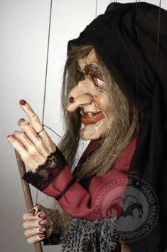 Large Witch Czech Marionette Puppet by CzechMarionettes on Etsy