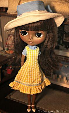 Custom Beautiful Brown Neo Blythe Petit de'jeuner Champs Elysees