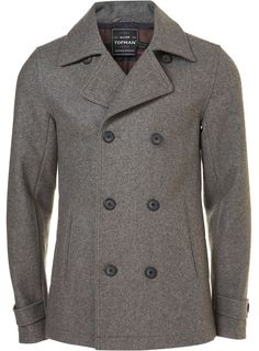 Grey Wool Skinny Fit Peacoat        Price: $170.00      Color: Grey      Item code: 64D81EGRY