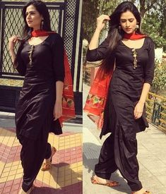 Sohni Mutiyar Oshin Brar in black punjabi suit . Black Punjabi Suit, Black Patiala Suit, Punjabi Dress, Pakistani Dresses, Indian Dresses, Patiala Dress, Punjabi Salwar Suits, Punjabi Bride, Bollywood Dress