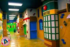 children's church main street hallway with candy store