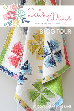 Down Grapevine Lane: Daisy Days Blog Tour: ' Desert Windmills' Quilt
