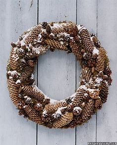 pine cone add a little ribbon this would be perfect!!
