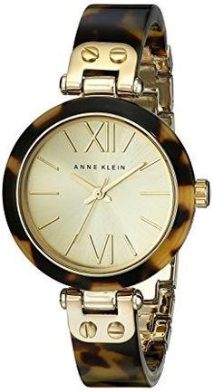 Anne Klein Women's 109652CHTO Reloj con brazalete de plástico de concha de tortuga dorado