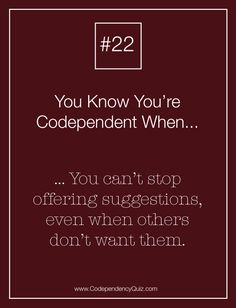 dating a codependent woman Here are some important warning signs of codependency do you have a codependent personality 3 women speak out.