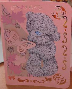 Pink based Tatty Teddy card