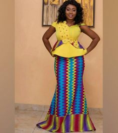 These are the best and stylish kente styles. Kente cloth dress these days can not be ruled out of African dress styles. African Inspired Fashion, Latest African Fashion Dresses, African Print Fashion, African Attire, African Wear, African Dress, African Clothes, African Outfits, African Lace Styles