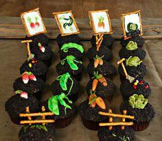 Garden Party Cupcakes- super cute.