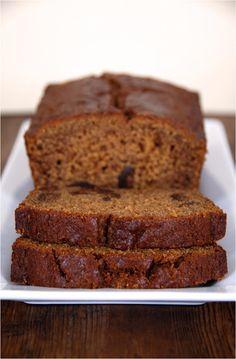 Gluten free gingerbread fig loaf