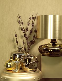 Gold Wallcoverings / Goud Behang collectie Colourline - BN Wallcoverings