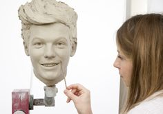 Louis from 1D's clay head shot - this will be used to mould the finished wax figures's head. #1DMT