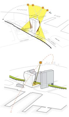 Solar Carve Tower / Studio Gang Architects / #diagram #graphic #architecture #illustration #drawing
