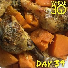 """""""Keeping it simple - baked sweet potato and chicken drumsticks!  #whole30 #whole100 #CTLTwhole100 #whole30homies #2015IGwhole30 #eatrealfood #cleaneating #jerf #healthy #mealideas #paleo #recipe #blog #considertheleafTURNED #day39"""" Photo taken by @considertheleafturned on Instagram, pinned via the InstaPin iOS App! http://www.instapinapp.com (02/05/2015)"""