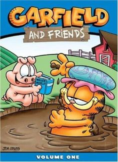 1988 Garfield And Friends.I loved Garfield when I was a little girl! Best 80s Tv Shows, 80 Tv Shows, Kids Tv Shows, Garfield Cartoon, Garfield And Odie, Garfield Comics, Saturday Morning Cartoons 80s, Morning Tv Shows, 90s Cartoons