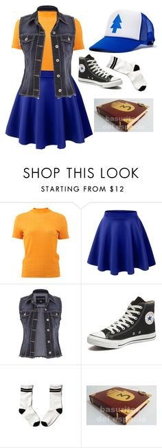 """""""Dipper pines"""" by my-bullte-blood ❤ liked on Polyvore featuring Carven, LE3NO, maurices, Converse, Abercrombie & Fitch, women's clothing, women, female, woman and misses"""