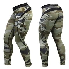 Better Bodies: Women's Camo Long Tights 91% Polyamide, 9% Elastane! Specifically Developed For The Gym & Fitness!