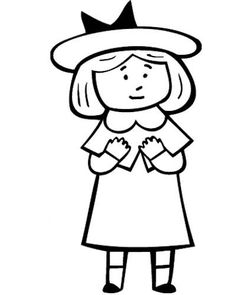 Madeline Cartoon Coloring Page