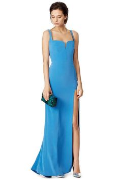 """""""No need to overdo black-tie with this chic silhouette,"""" Mullevey says. """"This gown is perfect for an event like the Make-A-Wish Wish Ball."""""""