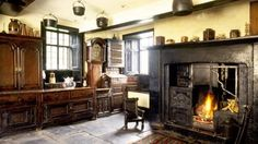 The Townend kitchen of the yeoman farmhouse at Troutbeck