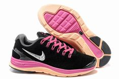 sneakers for cheap be969 30b31 More and More Cheap Shoes Sale Online,Welcome To Buy New Shoes 2013 Womens Nike  LunarGlide 4 Suede Black Fireberry Pearl Pink Silver Running Shoes  New ...