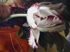 Jan Van Huysum, detail of 'Vase Of Flowers', 1722
