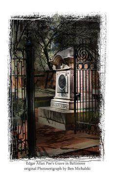 Edgar Allen Poe Grave Site Baltimore Md. Photograph by Ben Michalski
