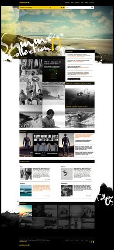 Web | Soöruz Redesign Elements by Thomas Le Corre, via Behance