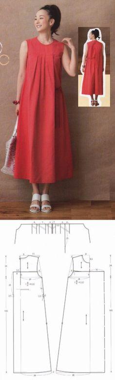Летнее платье. Выкройка на 44-46 размеры