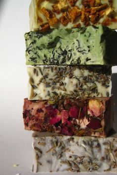 Handmade Natural Soap Ideas to top my soaps with.