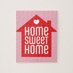 Home sweet home  jigsaw puzzle - home gifts ideas decor special unique custom individual customized individualized