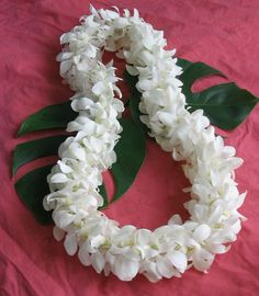 35 best leis images on pinterest hawaiian leis flower lei and double style dendrobium orchid lei is hand crafted from white dendrobium orchid blossoms mightylinksfo