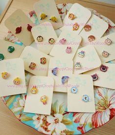 Tsum Tsum Game Inspired Earrings Post Stud by CrochetsInTheWoods