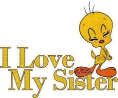 I love My Sister quotes quote family quote family quotes sister quote twieety bird
