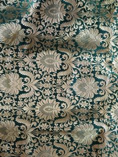 Charcoal Wallpaper, Embroidery Works, Satin, Deep, Cotton Silk, Antique Gold, Damask, Fabric Design