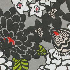Alexander Henry House Designer - Flower Garden - Satchi in Grey