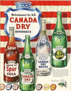 Canada Dry products 1950s