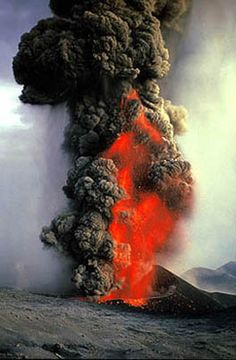 Mount Etna Eruption Sicily | Mt. Etna, Sicily (November 2002) Photo showing explosive eruption.