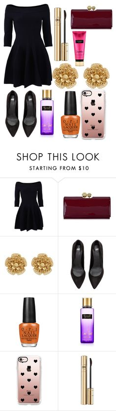 """""""Untitled #9242"""" by ohnadine ❤ liked on Polyvore featuring Jonathan Simkhai, Ted Baker, Miriam Haskell, OPI, Casetify and Dolce&Gabbana"""