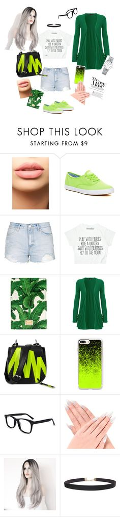 """""""green splash"""" by anastaslepchenko ❤ liked on Polyvore featuring LASplash, Keds, Topshop, Dolce&Gabbana, WearAll, Christopher Kane, Casetify, Humble Chic and Longines"""