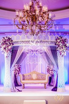 Suhaag Garden Weddings, Florida Indian Wedding Decorator, California Indian Wedding Decorator, San Fransisco Indian Weddings, Crystal Candelabras with White Flowers, Reception Stage Decor, Indian Wedding, Unique Reception Designs, Modern Reception Centerpieces, Reception Bride and Groom Focal Point, Textured Lighting, Plum Silver & White, Silver Sequins, Silver Manzanitas, Crystals, Reception Stage Furniture, White Flowers, White Phalaenopsis Orchids