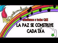 LA PAZ SE CONSTRUYE CADA DIA - YouTube Middle School Spanish, Conte, Homeschool, Religion, Peace, Education, Day, Ideas Para, Festivals