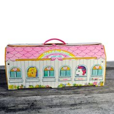 toy  vintage  carrying case  1980s  my little pony