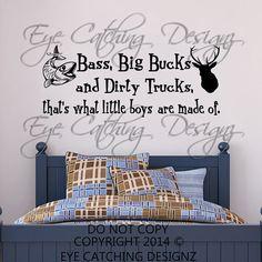 Bass Big Bucks Dirty Trucks That's What by EyeCatchingDesignz